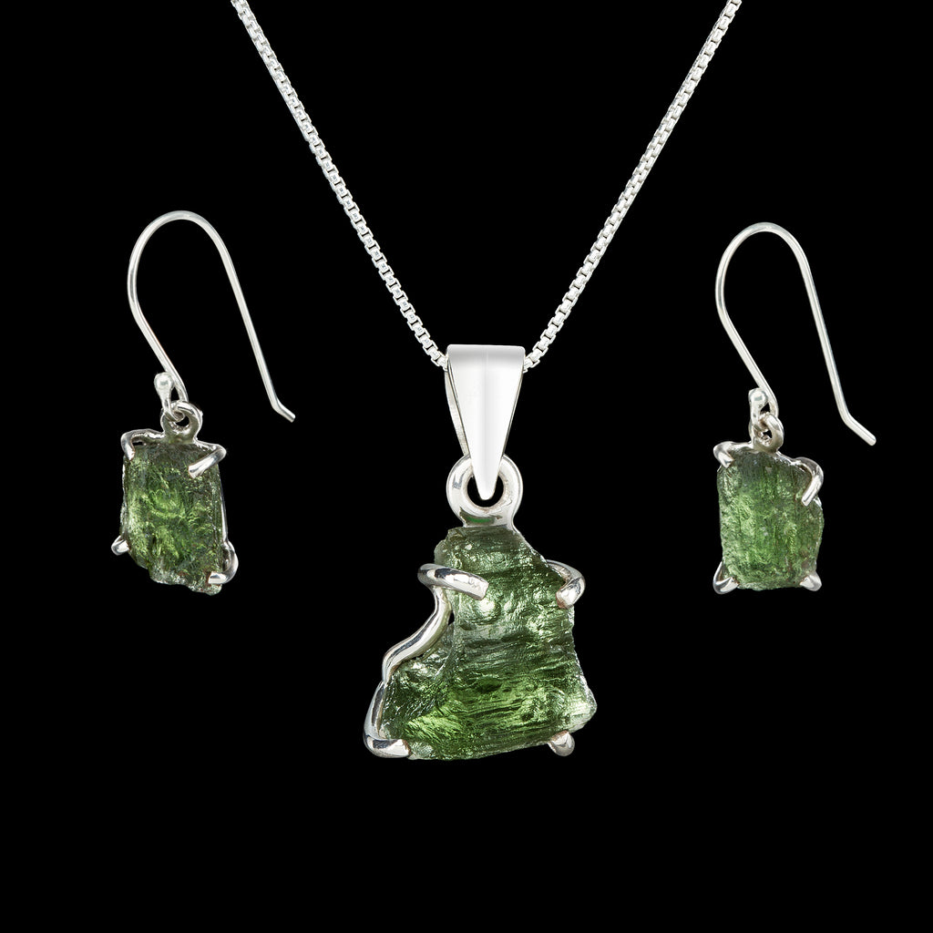 Moldavite Asteroid Impact Glass Jewelry