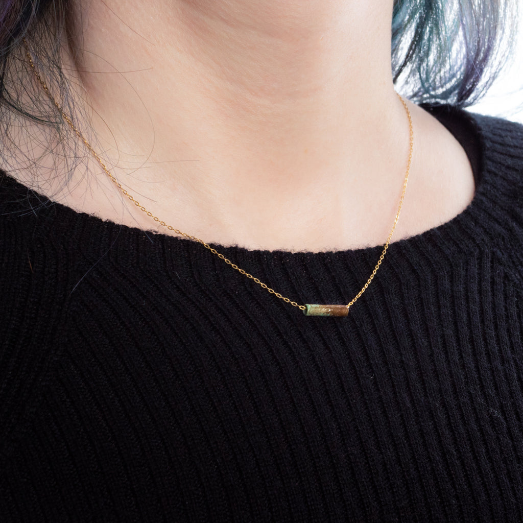 Limited Edition Mummy Bead Gold Necklace