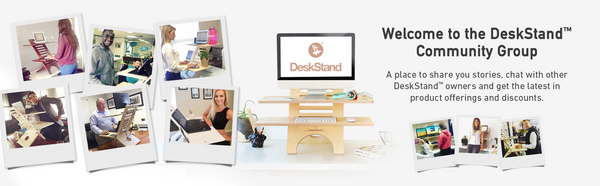 DeskStand Standing Desk Converter Facebook Group Sit Stand Desk Furniture