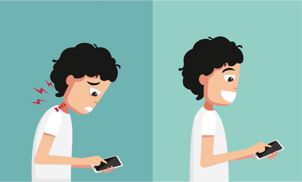 Phones can cause bad posture