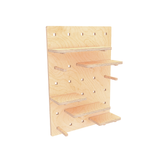 deskstand shelving shelves wooden peg board pegwall for the office