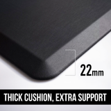 Anti-Fatigue foam mat Ergonomically engineered from the Highest-grade foam and designed for standing desk or DeskStand