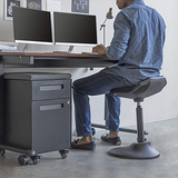 Ergonomic tilt Perch Chair stool moves with body height-adjustable active sitting standing desk chair stool6