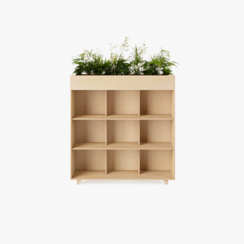 Fin Bookshelf planter storage books display