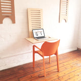 sitting position WallStand Standing Desk that is height adjustable table furniture