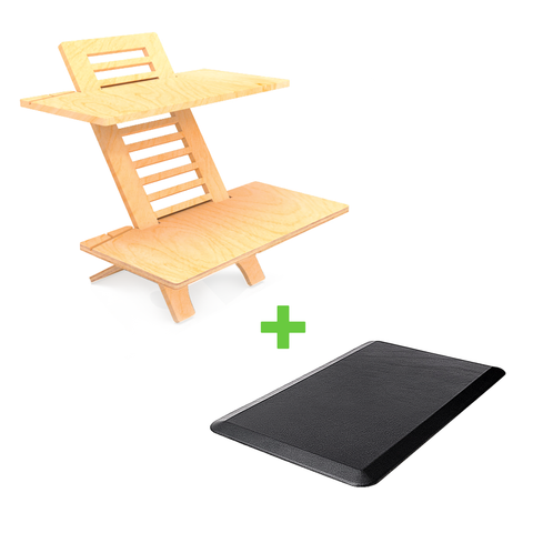 JUMBO Standing Desk varidesk Sit-Stand Anti Fatigue Mat