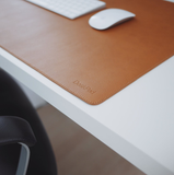 DeskPad, Vegan Leather, Mouse Pad, Writing Mat for Home Office by DeskStand