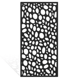 pebble screen cladding divider outdoor wall print wood holes