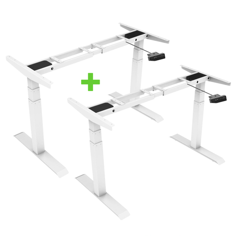 2 x TEKDESK 2.0 electric standing desk varidesk affordable deskstand height adjustable sit stand desk south africa assembly