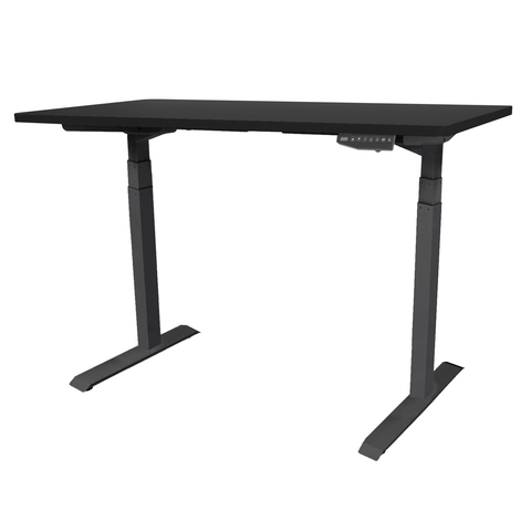 Black Standing Desk TekDesk electric sit stand desk varidesk affordable deskstand height adjustable south africa