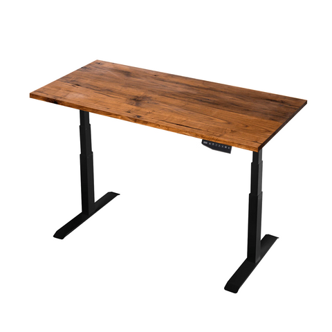 solid timber kiaat Black Standing Desk TekDesk electric sit stand desk varidesk affordable deskstand height adjustable south africa