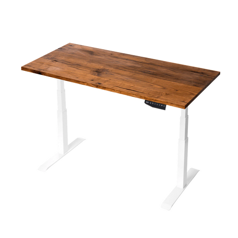 Black Standing Desk TekDesk electric sit stand desk varidesk affordable deskstand solid timber Kiaat height adjustable south africa