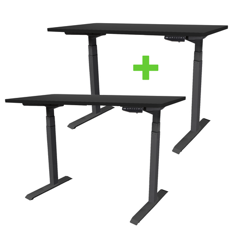 matt Black Folding frame TEKDESK 2.0 electric standing desk affordable deskstand height adjustable sit stand desk south africa assembly