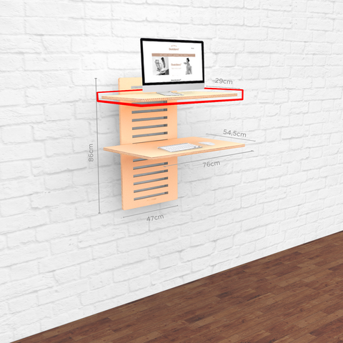 WallStand Standing Desk that is height adjustable shelf only