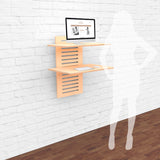 WallStand Wall mounted compact Standing Desk Sit Stand Desk