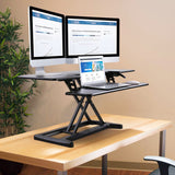 X-COVE (Black) Sit-Stand Standing Desk Converter (Black)