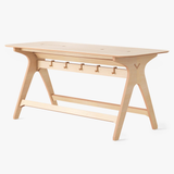 deskstand furniture standing meeting table desk natural birch ply wood