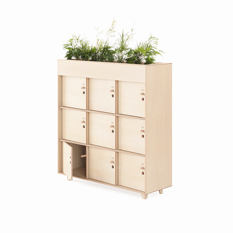 DeskStand furniture locker planter storage organisation shelving shelf unit potplant