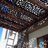 Decorative screen divider Restaurants geometric Commercial offices Retail spaces awnings Architectural sun shield Bespoke screens Office dividers Cladding and artwork for residential Hospitality geometric