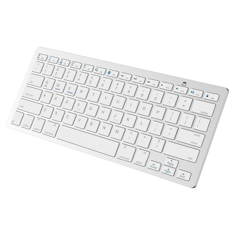wireless bluetooth keyboard qwerty white ultra slim professional