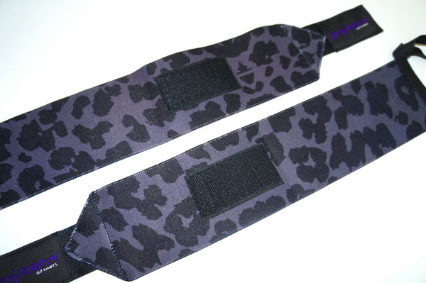BLACK LEOPARD WRIST WRAPS
