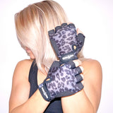 LEOPARD GRIPPY GLOVES