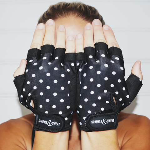 POLKA-DOT GRIPPY GLOVES