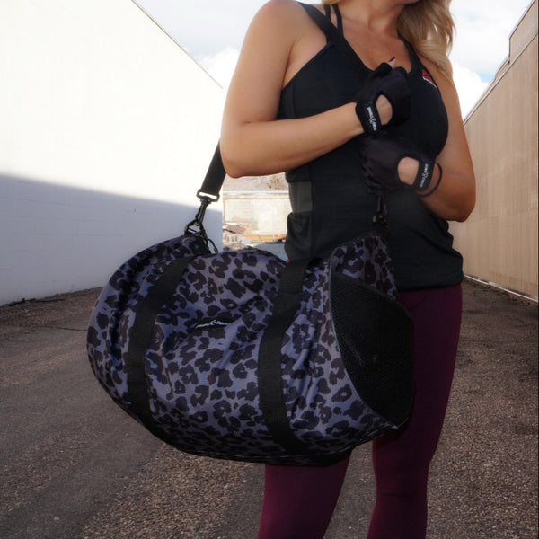 Dark Leopard Duffel Bag