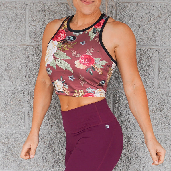 Crop Top - Mauve Floral