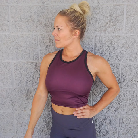 Crop Top - Plum