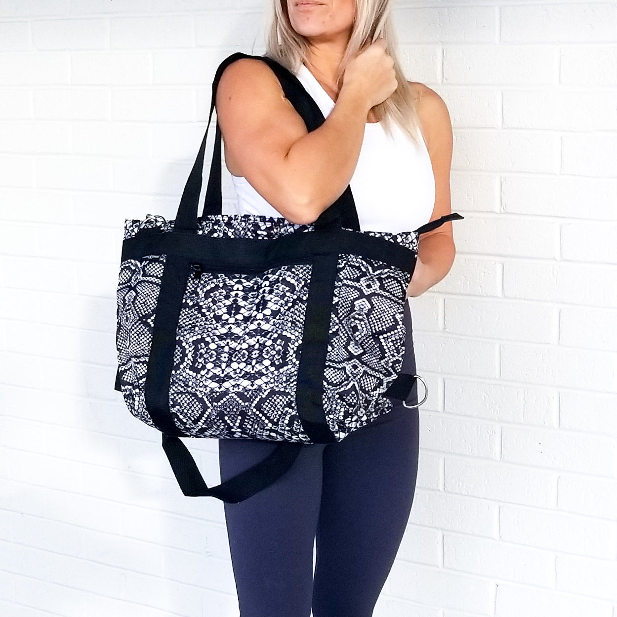 Snakeskin Gym Bag
