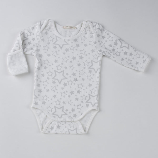 TANE Printed Crew Neck Onesie with Handcovers