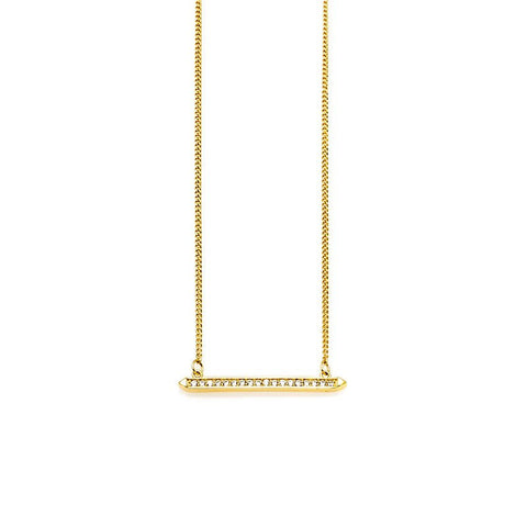 Melanie Auld Afla Delicate Bar Necklace