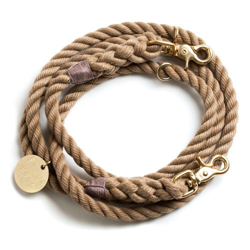 Found My Animal Adjustable Rope Leash - Natural