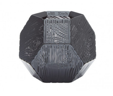 Tom Dixon Etch Tea Light Holder Black Wood