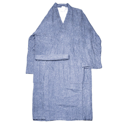 Uchino Japanese Shark Pattern Cotton Gauze Kimono Bath Robe