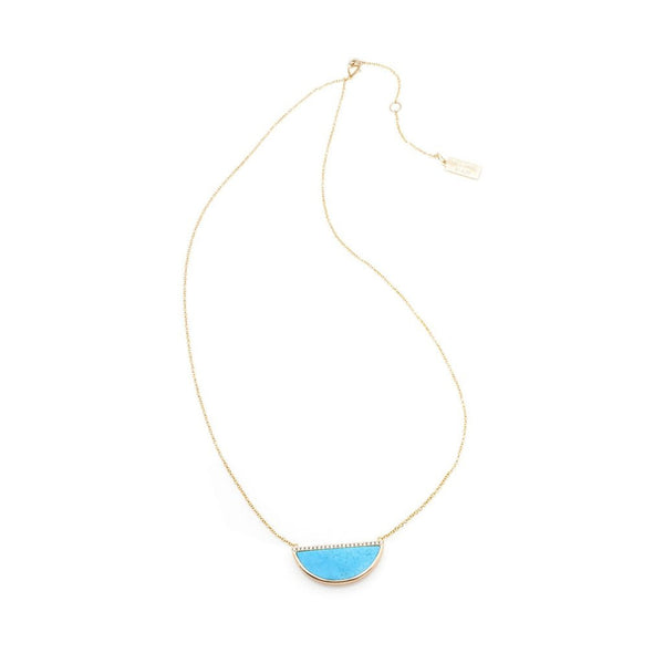 Melanie Auld Half Moon Necklace - Blue Howlite