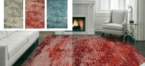 Alfombra moderna modelo ANTIK MEDALLION color Red