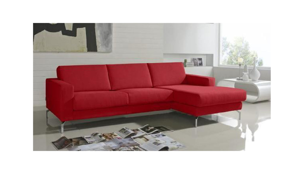 Chaiselongue de diseño modelo ABARTH en tela color rojo