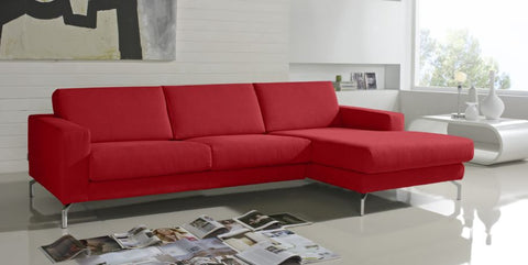 Chaiselongue de diseño modelo ABARTH en tela color arena