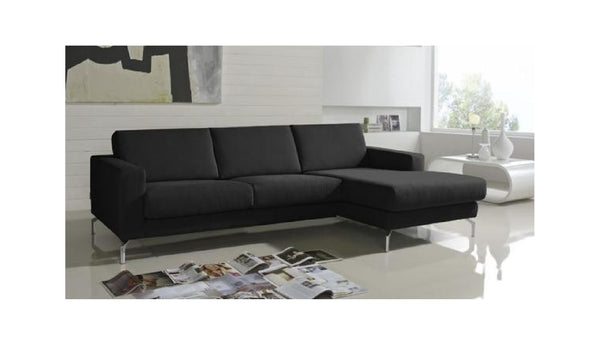 Chaiselongue de diseño modelo ABARTH en tela color negro