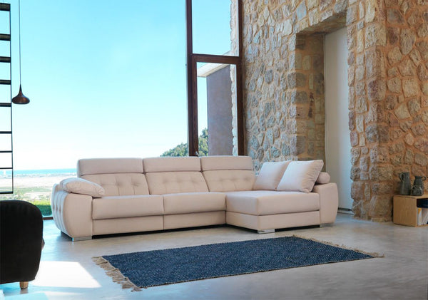 Chaiselongue modelo MALI en tela antimanchas