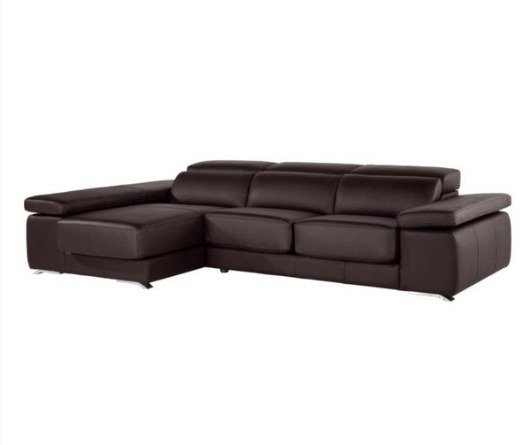 Chaiselongue modelo adagio en piel natural sidivani for Sofas piel madrid