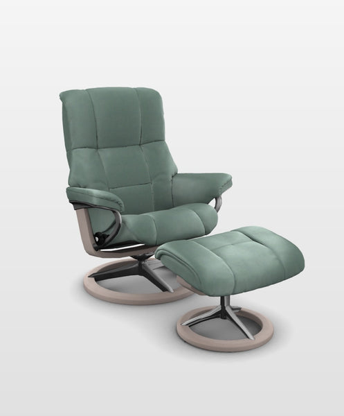 Sillon STRESSLESS modelo MAYFAIR en piel Paloma color Aqua Green