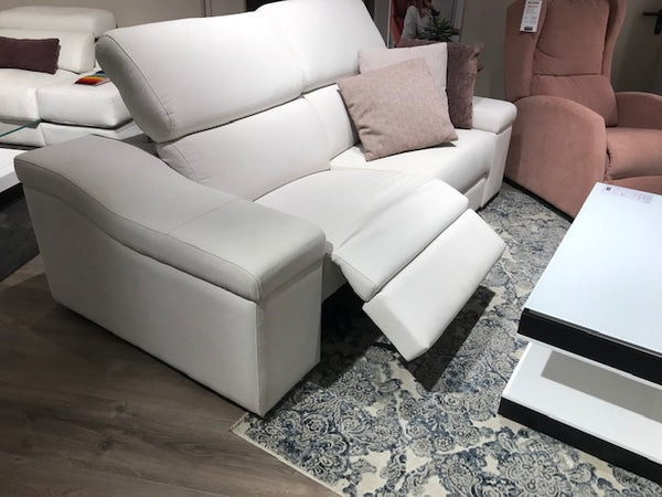 Sofa RELAX 3 pl. en tela AQUACLEAN Mystic color blanco