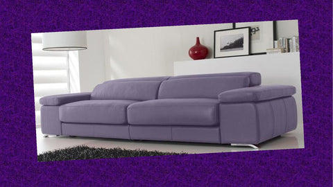Sofa de piel color lila en madrid SIDIVANI