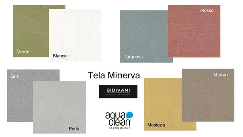 Chaiselongue modelo LOREA en tela Aquaclean