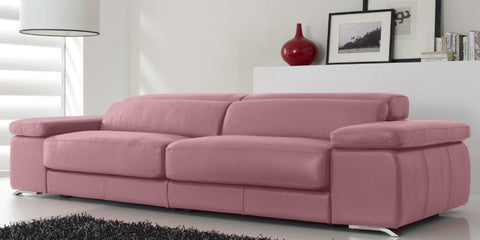 sofa color rosa en piel madrid