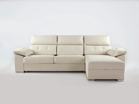 Chaiselongue Cama 140 modelo NEPTUNO en tela antimanchas