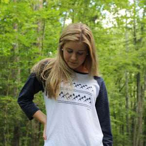 Mountain Range Baseball Tee